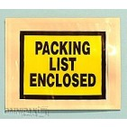 "4-1/2""x5-1/2"" Yellow Solid Print Packing List Enclosed Envelopes 1000/cs"
