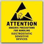 "2x2"" Attention Electrostatic Sensitive Devices Labels 1000/rl"