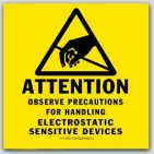 "4x4"" Attention Electrostatic Sensitive Devices Anti-static ESD Caution Labels. 500/rl"