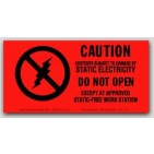 "3x5"" Caution Do Not Open Labels 500/rl"