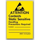 "1-3/4x2-1/2"" Attention Contents Static Sensitive Labels 1000/rl"
