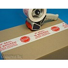 "2""x55yd Stop If Seal Is Broken Tape - 36rls/cs"