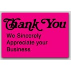 "1x1-1/2"" Thank You Labels 500/rl"