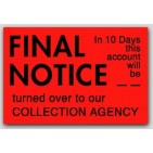 "1x1-1/2"" Final Notice Labels 500/rl"