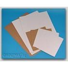"48x72"" - TP18 White Corrugated Pads - 10/Bundle"