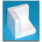"2-1/4x2-1/4x2-1/4 x-3/4"" - FCB1 Foam Corner Protection Blocks (Molded Polystyrene) - 1060/Carto"