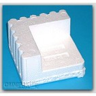 "3-1/4x3-1/4x1-1/2 x 1-1/4"" - FCB2 Foam Corner Protection Blocks (Molded Polystyrene) - 672/Cart"