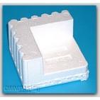 "3-1/4x3-1/4x1-1/2 x 1-1/4"" - FCB2 Foam Corner Protection Blocks (Molded Polystyrene) - 672/Cart"