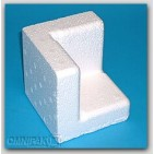 "3-1/2x3-1/2x3-1/2 x 1-1/2"" - FCB3 Foam Corner Protection Blocks (Molded Polystyrene) - 168/Car"