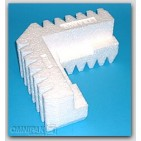 "7-3/8x7-3/8x2 x 2-1/4"" - FCB6 Foam Corner Protection Blocks (Resilient Molded Bead) - 80/Carton"
