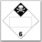 Inhalation Hazard Class 6 Polycoated Tagboard Placards 25/pkg