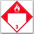 Combustible Class 3 Polycoated Tagboard Placards 25/pkg