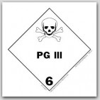 "4x4"" Class 6 PG III Paper Labels 500/rl"