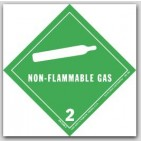 "4x4"" Class 2 Non-Flammable Gas Paper Labels 500/rl"