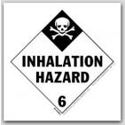 """4x4"""" Class 6 Inhalation Hazard Vinyl Labels 500/rl"""