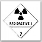 "4x4"" Class 7 Radioactive 1 Paper Labels 500/rl"