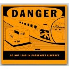 "4-1/2x4-3/4"" Do Not Load In Passenger Aircraft Vinyl Labels 500/rl"