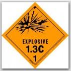 "4x4"" Class 1.3c Explosives Paper Labels 500/rl"