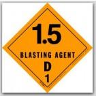 """4x4"""" Class 1.5d Blasting Agents Paper Labels 500/rl"""