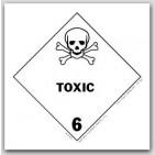 "4x4"" Class 6 Toxic Paper Labels 500/rl"