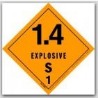 "4x4"" Class 1.4s Explosives Vinyl Labels 500/rl"