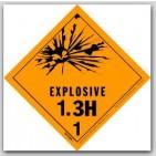 "4x4"" Class 1.3h Explosives Paper Labels 500/rl"