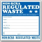 "6x6"" Non RCRA Regulated Waste Vinyl Labels 100/pkg"