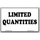 "7-1/2x12"" Limited Quantities Paper Labels 500/rl"