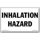 Inhalation Hazard Self Adhesive Vinyl Placards 25/pkg