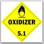 Oxidizer Class 5.1 Polycoated Tagboard Placards 25/pkg