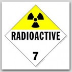Radioactive Class 7 Polycoated Tagboard Placards 25/pkg
