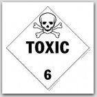 Toxic Class 6 Self Adhesive Vinyl Placards 25/pkg