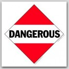 Dangerous Polycoated Tagboard Placards 25/pkg