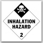 Inhalation Hazard Class 2 Polycoated Tagboard Placards 25/pkg