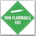 Non-Flammable Class 2 Self Adhesive Vinyl Placards 25/pkg