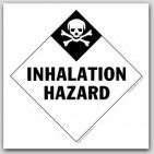 Inhalation Hazard Class 2 Self Adhesive Vinyl Placards 25/pkg