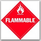 Flammable Liquids Class 3 Self Adhesive Vinyl Placards 25/pkg