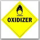 Oxidizer Class 5 Self Adhesive Vinyl Placards 25/pkg