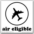 "4x4"" Air Eligible Paper Labels White and Black 500/rl"