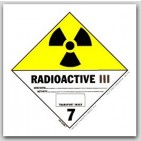 "4x4"" Class 7 Radioactive 3 Paper Labels 500/rl"
