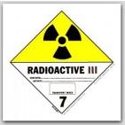 "4x4"" Class 7 Radioactive 3 Vinyl Labels 500/rl"