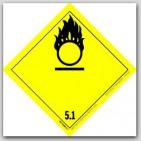 "4x4"" Class 5 Oxidizer and Organic Peroxide Vinyl Labels 500/rl"