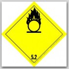 "4x4"" Class 5 Oxidizer and Organic Peroxide Paper Labels 500/rl"