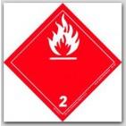 "4x4"" Class 2 Gases Vinyl Labels 500/rl"