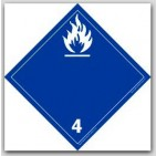 "4x4"" Class 4 Flammable Solids Paper Labels 500/rl"