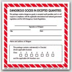 "4x4"" Dangerous Goods In Expected Quantities Paper Labels 500/rl"