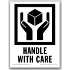 "3x4"" International Labels Handle With Care 500/rl"