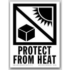 "4x6"" International Labels Protect From Heat 500/rl"