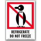 "4x6"" International Labels Refrigerate Do Not Freeze 500/rl"