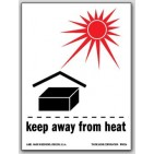 "3x4"" International Labels Keap Away From Heat 500/rl"